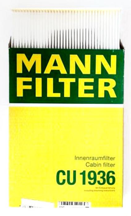 Фильтр салонный MANN CU 1936