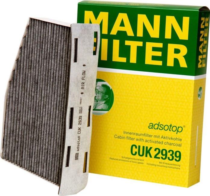 Фильтр салонный MANN CUK 2939