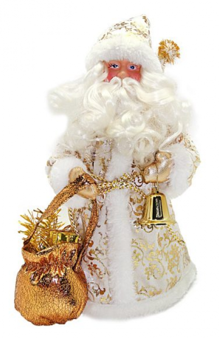 Кукла Новогодняя сказка Дед Мороз 25см золотой 949198