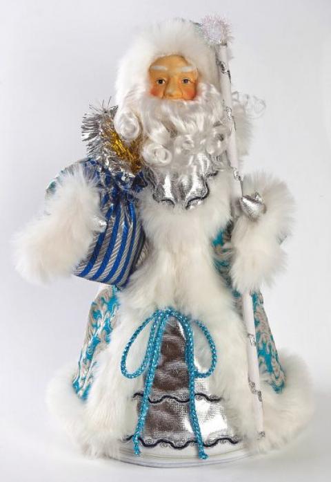 Новогодняя сказка Дед Мороз 38см голубой 972021