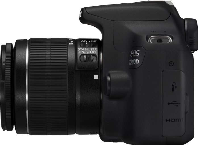 "Цифровой фотоаппарат Canon EOS 1200D черный 18Mpix 18-55мм f/3.5-5.6 DC 3"" 1080p Full HD SDXC Li-ion (с объективом)"