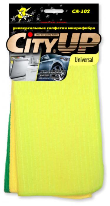 Салфетка City Up CA-102 микрофибра UNIVERSAL для сильных загрязнений универсальная 30х30см 3шт