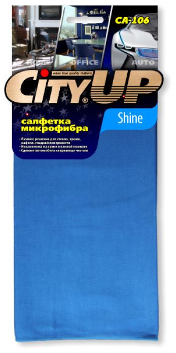 Салфетка City Up CA-106 микрофибра SHINE универсальная 35х40см