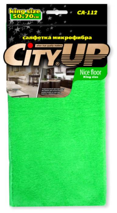Салфетка City Up CA-112L микрофибра NICE FLOOR высокопрочная универсальная 50х70см
