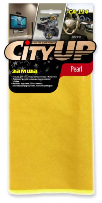 Салфетка City Up CA-114 замша из микрофибры PEARL сверхделикатная универсальная 35х40см