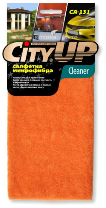 Салфетка City Up CA-131 микрофибра CLEANER распушенная универсальная 35х40см