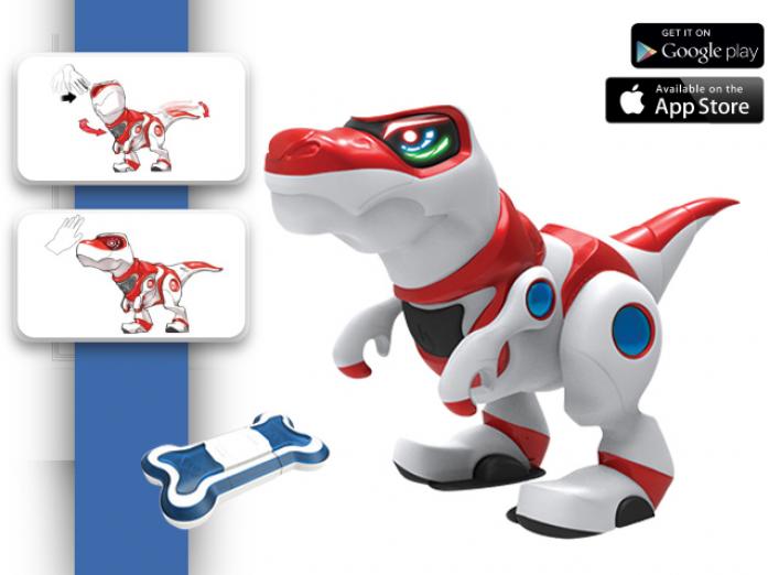 Игрушка интерактивная Manley Toys Teksta T-Rex с аксессуарами 36903