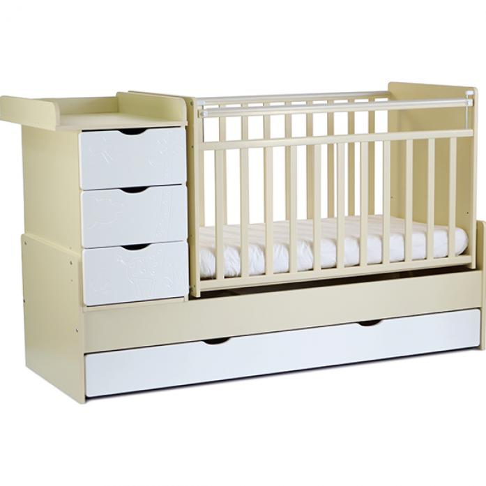 Кровать-трансформер СКВ СКВ-5 Жираф 540035-1 береза-белый