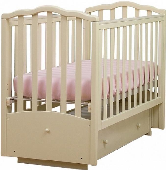Кровать Кубаньлесстрой АБ 19.3 Жасмин слоновая кость
