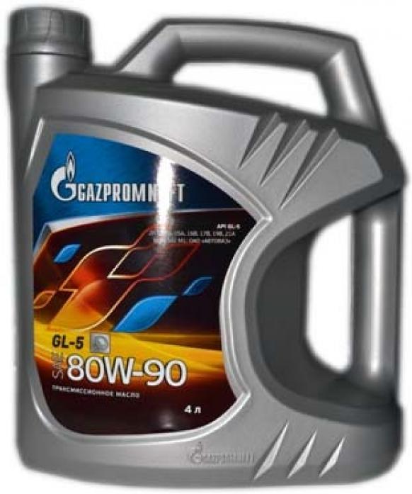 Масло трансмиссионное ГАЗПРОМНЕФТЬ GL-5 80W90 (4л) 2389901362