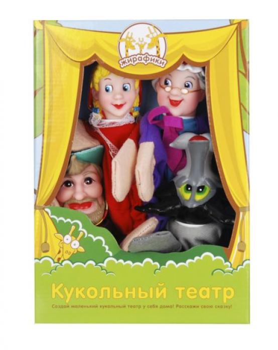 Кукольный театр Жирафики Красная шапочка 4 куклы 68318