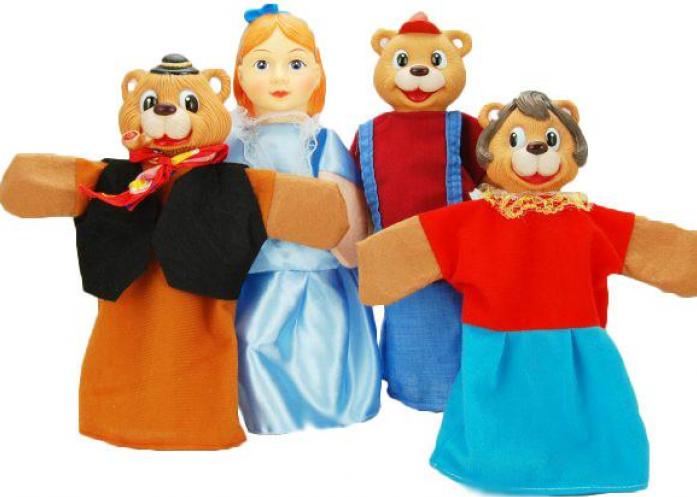 Кукольный театр Жирафики Три медведя 4 куклы 68315