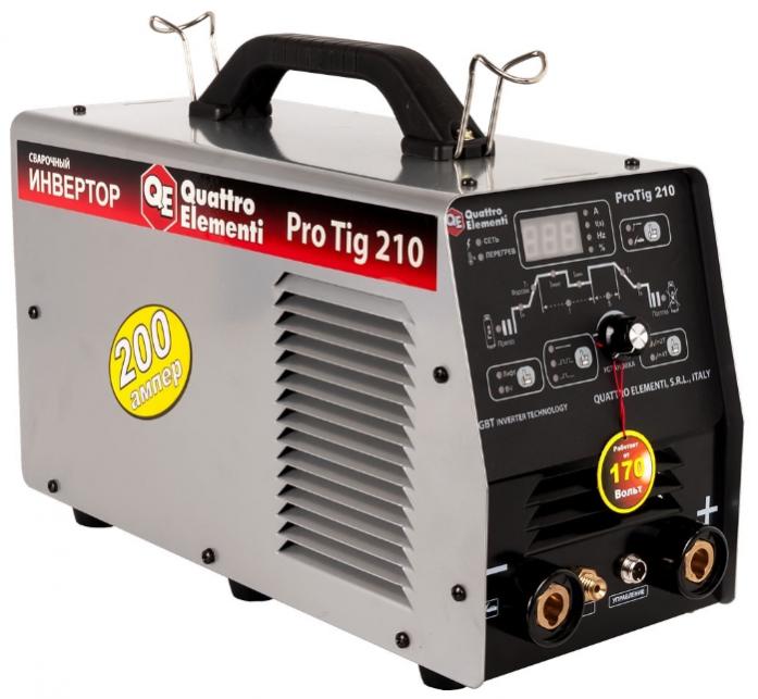 Инверторный аппарат аргонодуговой сварки QUATTRO ELEMENTI ProTIG 210 771-633