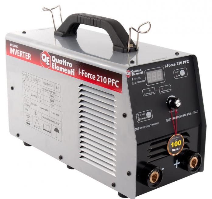 Инверторный аппарат электродной сварки QUATTRO ELEMENTI i-FORCE 210 PFC 771-626