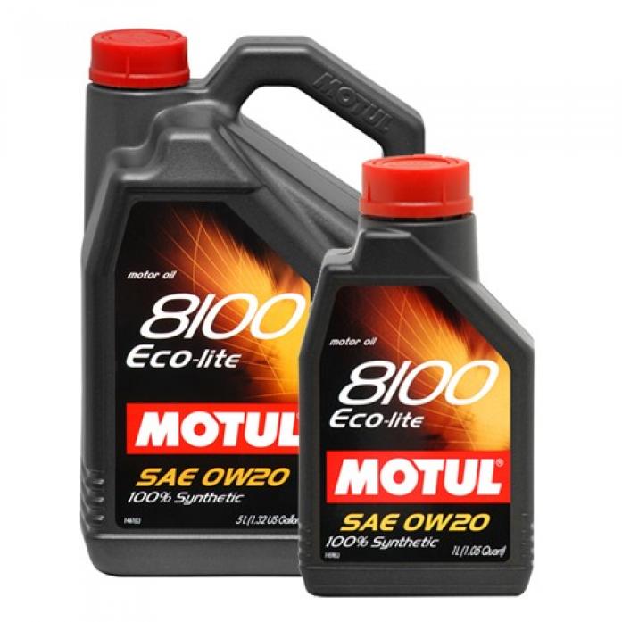Масло моторное MOTUL 8100 Eco-Lite 0W20 API SN/CF синт. (5л) 104983