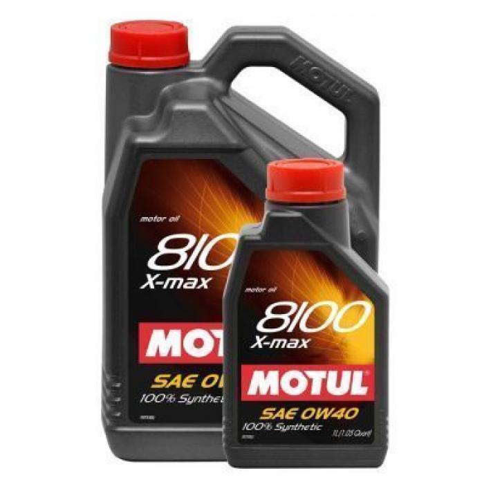 Масло моторное MOTUL 8100 X-max 0W40 API SN/CF, ACEA A3/B4 синт. (4л) 104532