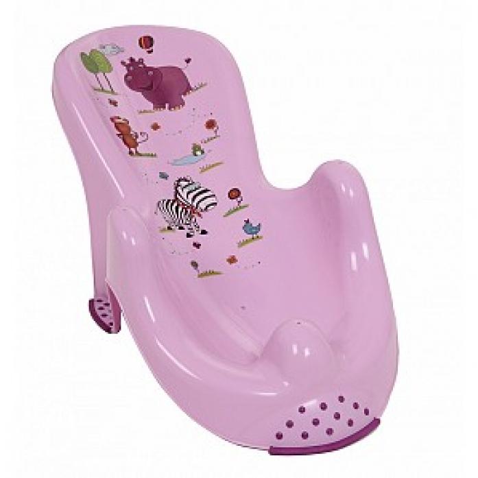Горка детская для ванночки ОКТ Гиппопотамчик фиолетовый 8619