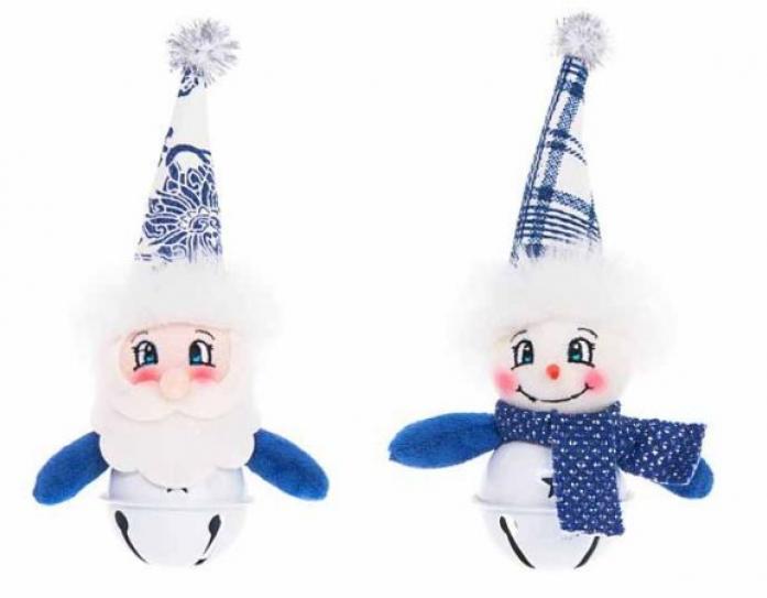 Новогодняя сказка Печки-лавочки 15 см синий 972015