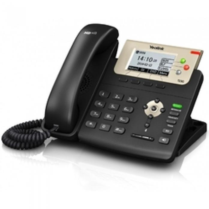 Телефон Yealink SIP-T23G SIP-телефон, 3 линии, PoE, GigE