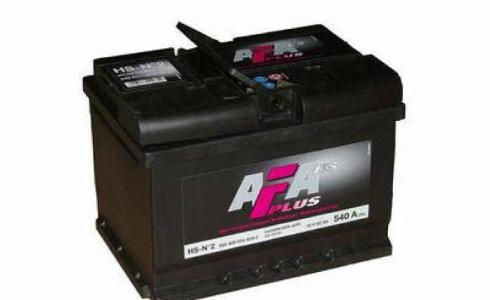 Аккумулятор AFA 60 А/ч 560409 HS ОБР низкий.