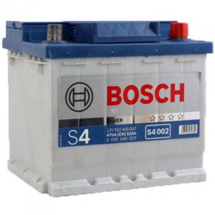 Аккумулятор Bosch 52 A/ч S40 02