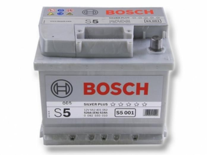 Аккумулятор Bosch 52 A/ч S50 01