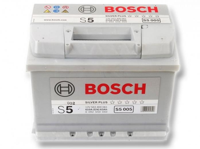 Аккумулятор Bosch 63 A/ч S50 06 прям. поляр.