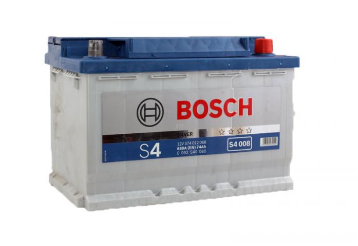 Аккумулятор Bosch 74 A/ч S40 08