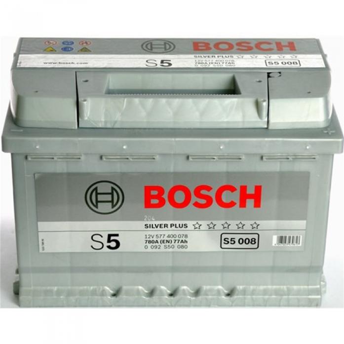 Аккумулятор Bosch 77 A/ч S50 08