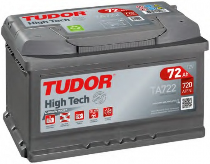 Аккумулятор Tudor High-Tech 72 А/ч TA722 ОБР