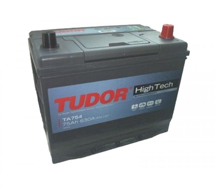 Аккумулятор Tudor High-Tech 75 А/ч TA754 высокий обр