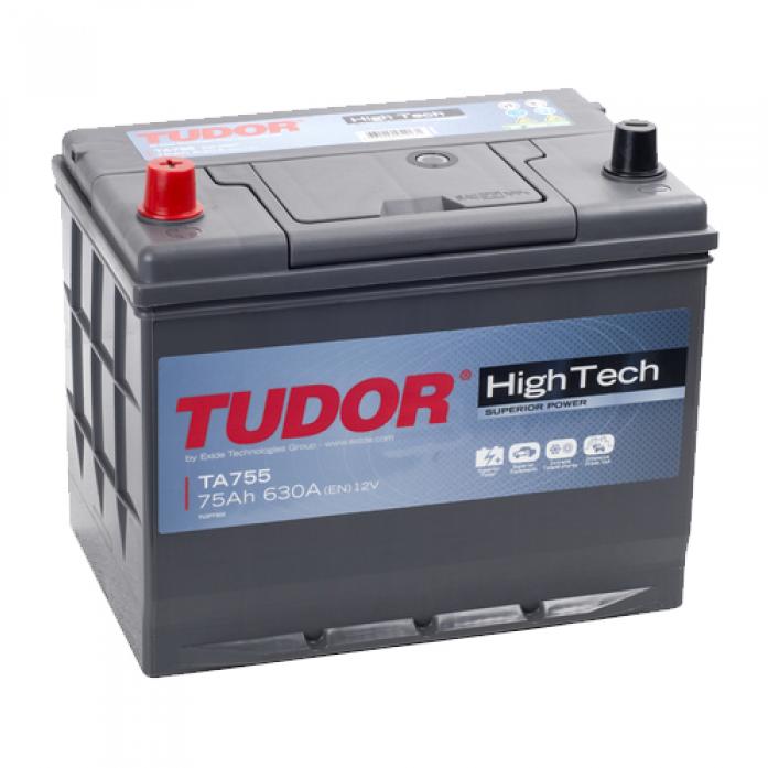 Аккумулятор Tudor High-Tech 75 А/ч TA755 высокий