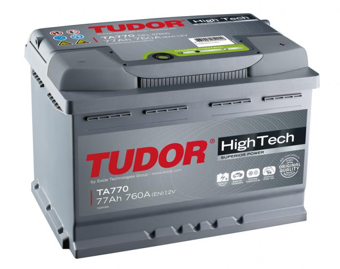 Аккумулятор Tudor High-Tech 77 А/ч TA770 ОБР
