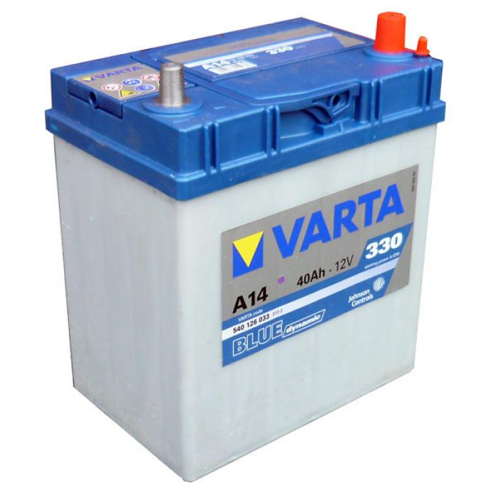 Аккумулятор VARTA Blue Dynamic 40 А/ч 540125 узк кл ОБР A13