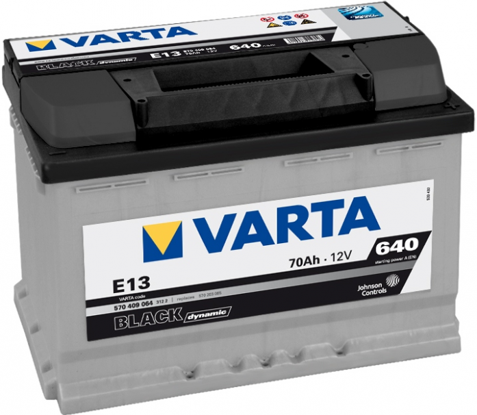 Аккумулятор VARTA Black Dynamic 70 А/ч 570409 ОБР E13