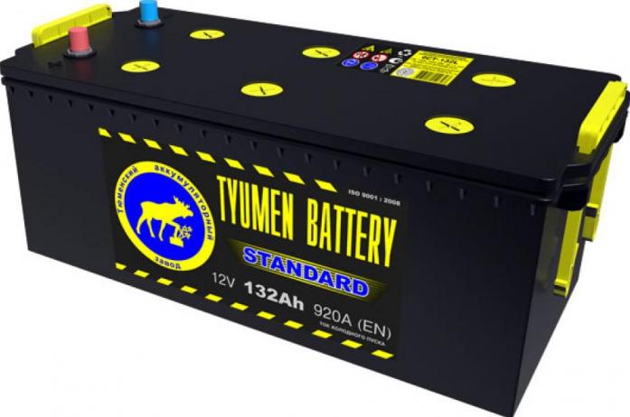 Аккумулятор TYUMEN BATTERY STANDARD 132 А/ч прямая R+