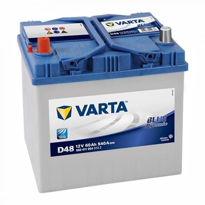 Аккумулятор VARTA Blue Dynamic 60 А/ч 560411 выс D48