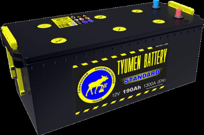 Аккумулятор TYUMEN BATTERY STANDARD 190 А/ч прямая R+ под болт