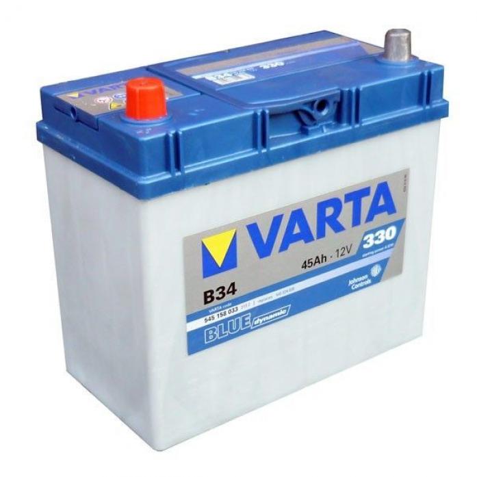 Аккумулятор VARTA Blue Dynamic 45 А/ч 545158 тол кл B34
