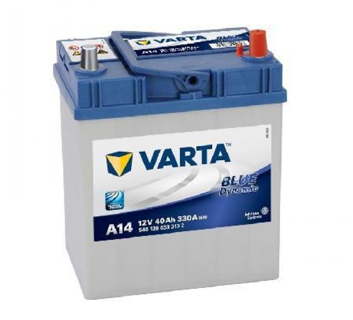 Аккумулятор VARTA Blue Dynamic 40 А/ч 540126 узк кл ОБР A14