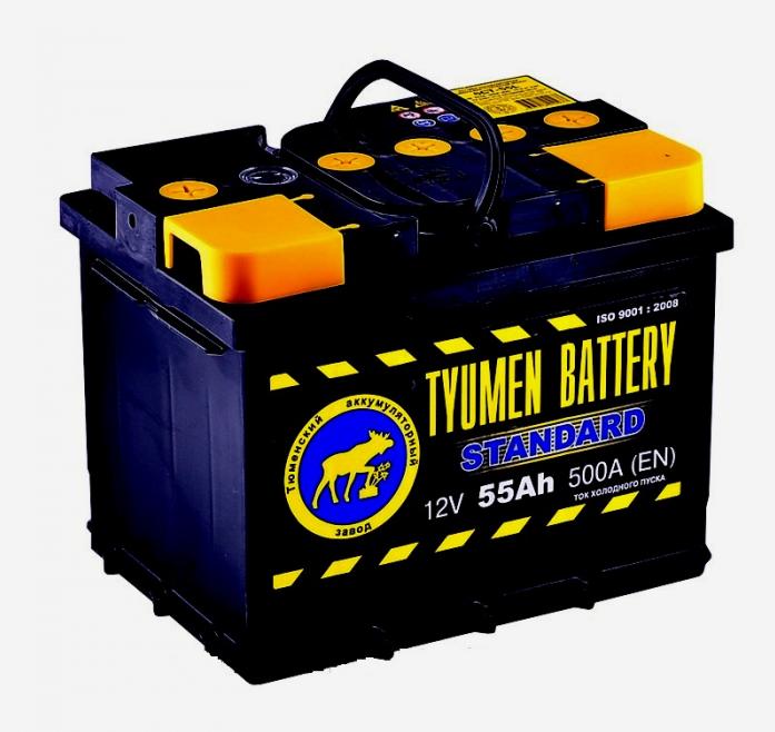 Аккумулятор TYUMEN BATTERY STANDARD 55 А/ч прямая L+