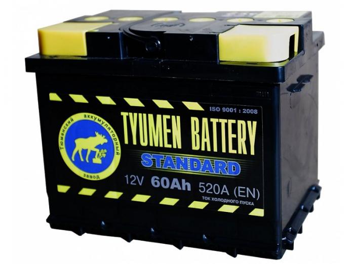 Аккумулятор TYUMEN BATTERY STANDARD 60 А/ч прямая L+