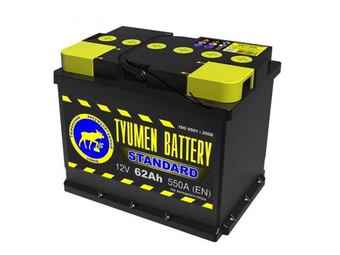 Аккумулятор TYUMEN BATTERY STANDARD 62 А/ч прямая L+
