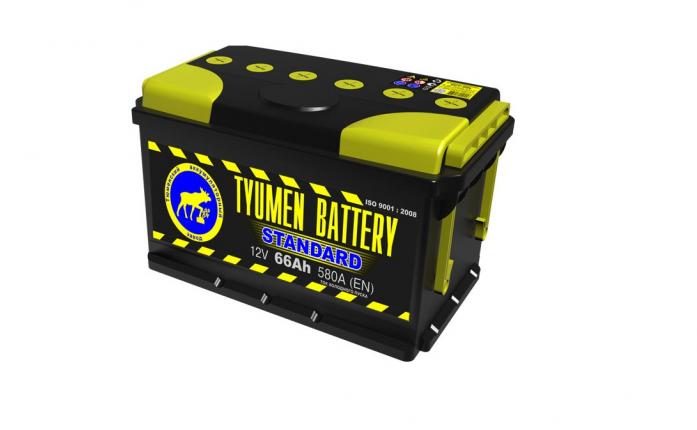 Аккумулятор TYUMEN BATTERY STANDARD 66 А/ч прямая L+