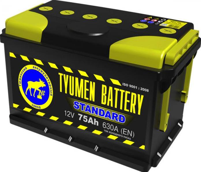 Аккумулятор TYUMEN BATTERY STANDARD 75 А/ч прямая L+