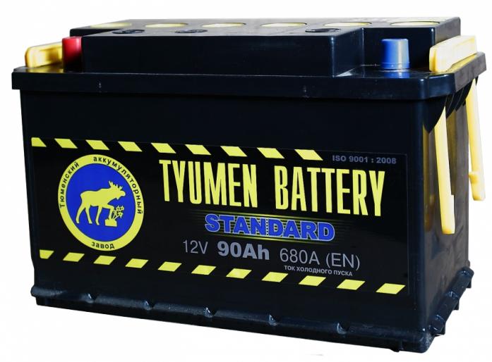 Аккумулятор TYUMEN BATTERY STANDARD 90 А/ч прямая L+