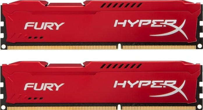 Оперативная память 16Gb DDR-III 1600MHz Kingston HyperX Fury Red (HX316C10FRK2/16)(2x8 KIT)