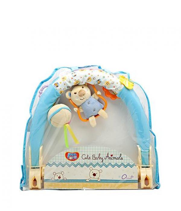 Игрушка-подвеска Biba Toys Малышки Мишки голубой/ розовый QB395