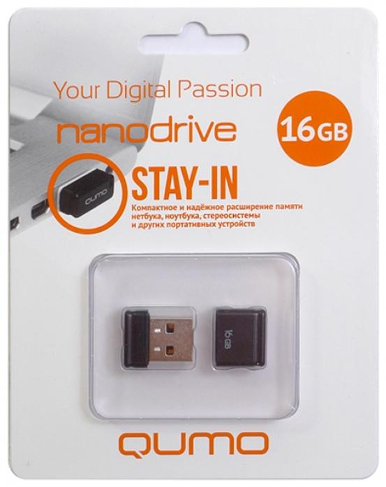 Накопитель QUMO Nanodrive, 16Gb USB 2.0