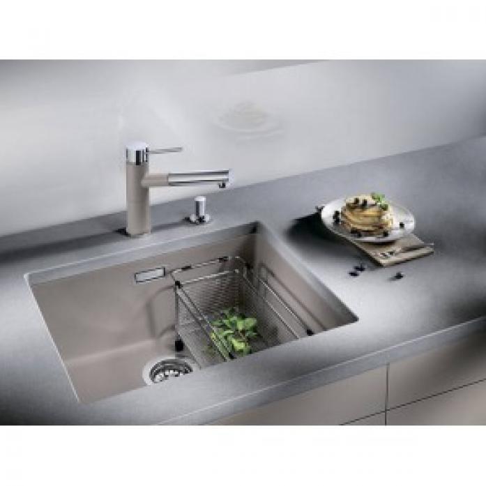 Кухонная мойка Blanco SUBLINE 500-U SILGRANIT PuraDur Жемчужный (520658)